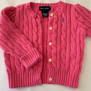 Ralph Lauren Cable Knit Cardigan Toddler Sweater